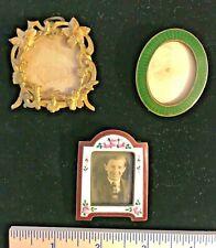Vintage miniature picture frames - lot of 3