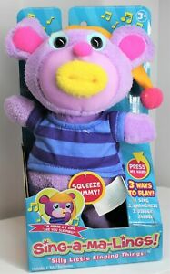 """FUNRISE SING-A-MA-LINGS! PIERRE """"SINGS ARE YOU SLEEPING"""" 2017 PURPLE AGES 3+ NEW"""