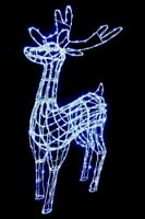 Large Outdoor Christmas Light Up Reindeer - 360 White Led - 180cm Tall
