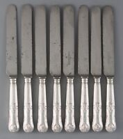 A Set of 8 George III Kings Pattern Table Knives, London 1813 by Moses Brent