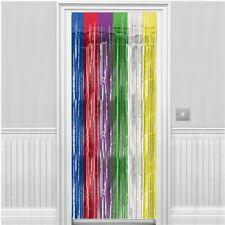 Multi Foil  Fringe Curtain Circus Festival Carnival  Door Rainbow Theme  Party
