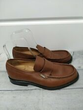 Lacoste Men's Brown Leather Smart Business Designer Shoes Size 9