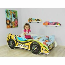 F1 Racing Car Bed Beefree Children Boys Girls Bed with MATTRESS 140x70cm +pillow