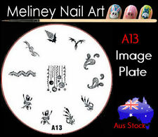 A13 Stamping Nail Art Image Plate Design Round XL Stencil metal