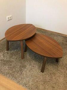 Satztische 2 St., Nussbaumfurnier, IKEA Stockholm Reihe, Wohnzimmer Tische