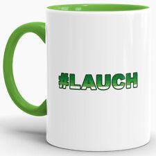 """Lauch-Tasse """"#LAUCH"""" Hellgrün / Lauch / Fun / Lustig / Spruch / Hashtag"""