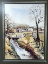 Original Vintage Water Colour Painting Orton Cumbria Yorkshire Dales Farmhouse