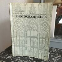 Agenda Photogrammetrie Centro Ricerca Sul I Monumenti Storici 1984