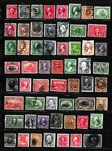 HICK GIRL- OLD USED U.S. STAMPS  PAGE FULL       X9156
