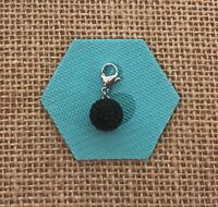 NEW Authentic Origami Owl Black Sparkle Ball Crystal Dangle - Retired & RARE!!!