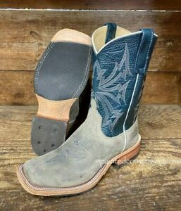 Anderson Bean Men's Stone Waxy Kudu & Blue Explosion Cowboy Boots 330494