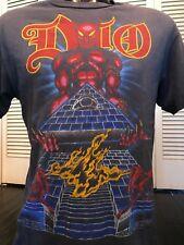VTG 84 Dio Last In Line Tour Shirt Sz M/L Iron Rock Venom Slayer Metal Sabbath