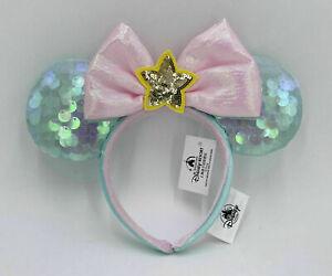 Disney 2021 Green Rare Sequined Minnie Ears SHDR Headband