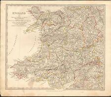 1831 ANTIQUE MAP- SDUK - ENGLAND II, WALES, ANGLESEY, PEMBROKE,, MONMOUTH,