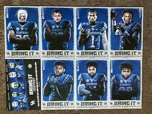 2019 BELK CHAMPS (8) University of KY UK Football Poster/Schedules Complete Set