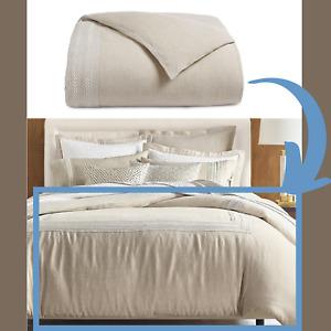 NIB Hotel Collection Oatmeal Linen Madison Full/Queen Duvet Cover Oatmeal #D46