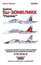 Caracal Decals 1/72 SUKHOI Su-30MK Su-30MKK FLANKER Jet Fighter