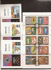 MIDDLE EAST Entities (all Olympics)- 6 souvenir sheets