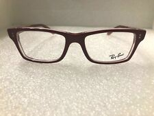 NEW RAY BAN RB 5225 RED 5186 52-17-140 PLASTIC EYEGLASS FRAME