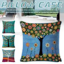 45x45cm Oil Painting Tree Pillow Case Linen Pillowcases Sofa Throw Cushion Cover