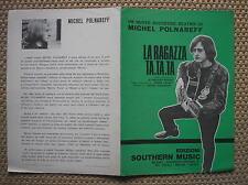 MICHEL POLNAREFF PARTITION ORIGINALE ITALIE 1967 LA RAGAZZA TA.TA.TA. BEATNIK