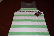 NWT Lions Crest by English Laundry Mens Striped Tank 100% Cotton Fashion Colors