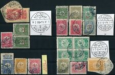 GREECE, OTTOMAN '' SALONIQUE '' 3 DIFF. TYPES OF POSTMARKS ON DIFF. STAMPS. #A69