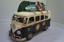 Vintage flower power Kombi van replica memorabilia decor hobby model cars hippy