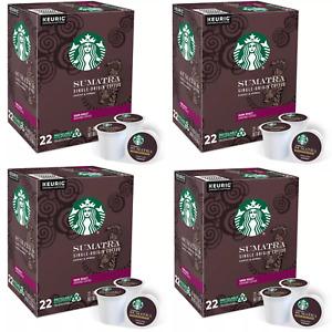 Starbucks Sumatra Coffee Keurig K-Cup Pods Dark Roast_88 Count-Free Shipping-New