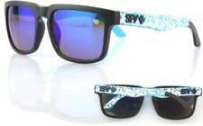 MENS SUNGLASSES BLUE WHITE BLACK KEN BLOCK SPY BLUE LENS 100% UV PLUS SOFT BAG