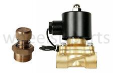 "air ride suspension brass valve 1/2""npt 12v solenoid adjustable air down control"