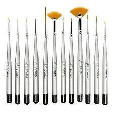 CONDA Fine Detail Paint Brush Set - 12 Miniature Brushes for Detailing & Art