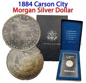 1884 Morgan Silver Dollar Carson City GSA OGP Beautifully Toned Obverse