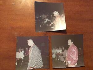 Original Group Of 3 Orlando vintage rare wrestling  photos 1973 Dated