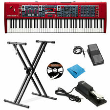 Nord Stage 3 Hp76 Keyboard W/Stand, Expression & Sustain Pedal,Dvd,Cloth