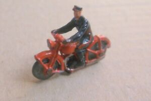 Britains Lilliput Motor Cyclist suit Wardie or Hornby Dublo, unboxed, good.