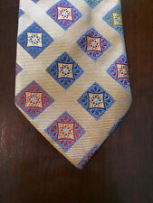 Harry Rosen Bold Jewel Patterned Yellow Tie Made in Italy