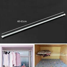 White Tension Rods Twist Telescopic Extendable Net Curtain Voile Rod Pole Rail 40-61cm