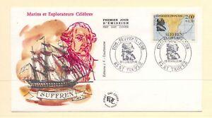 France 1988 SG 2816 Suffren Explorer on FDC Ships