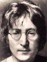 Painting Portrait Legendary Beatles Singer John Lennon Canvas Art Print
