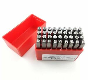36pc 4mm Lowercase Letter and Number punch Set Jewelry Stamps - LP400L