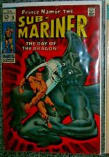 SUB-MARINER 15 MARVEL COMIC JULY 1969 VG- CENTS DRAGON MAN silver age SEE more