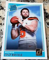 BAKER MAYFIELD 2018 Donruss #1 Draft Pick RATED Rookie Card RC Browns $$ HOT $$