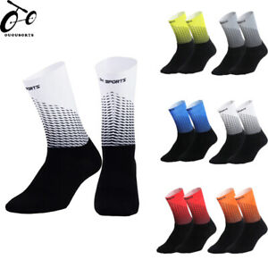 Men's Cycling Riding Bicycle Socks Breathable Basketball Moisture Wicking Socks