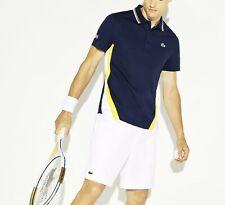 Camisa Polo Lacoste Sport BNWT tamaño 3XL (8) Azul Marino Ultra Dry Fit para hombre DH9455