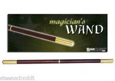 "PRO Magic Wand DELUXE 13.5"" Brown Wood & Golden BRASS Tips MID SPLIT Heavy Feel"