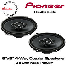 "Pioneer TS-A6834i - 6""x8"" custom fit 4-Way Coaxial Porte Voiture Haut-parleurs 350 W Power"