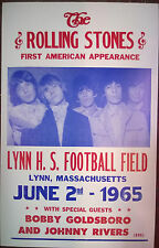 """The Rolling Stones Concert Poster - 1965 - First American Appearance - 14""""x22"""""""