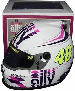 AUTOGRAPHED 2020 Jimmie Johnson #48 Ally White Signed NASCAR Mini Helmet COA