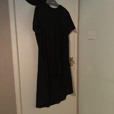 Black Asymmetric Tunic Shirt Size 16-18